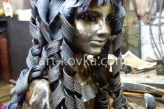Скульптура кованая. Мальвина