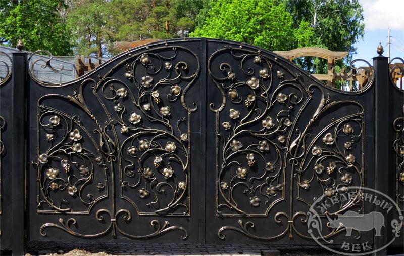 Кованые ворота, заборы и калитки в Ульяновске | арт ...: http://art-kovka.com/vorota-kalitki-zabory-kovanyie